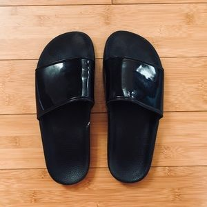 LF Stores Jeffrey Campbell Black Sandals
